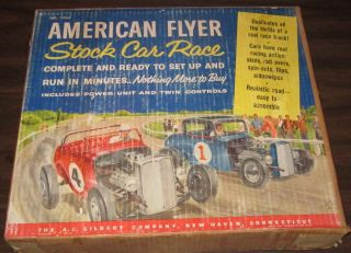AMERICAN FLYER No 19060 STOCK CAR RACE A.C. GILBERT w/orig BOX ~ SLOT