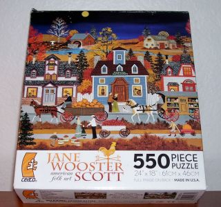 Jane Wooster Scott American Folk Art 550 pc Jigsaw Puzzle A Colorful