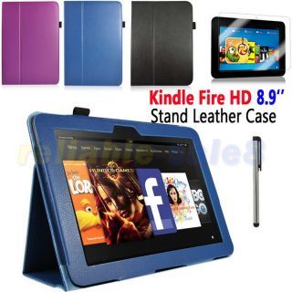 Kit PU Leather Stand Case for  Kindle Fire HD 8 9 Inch