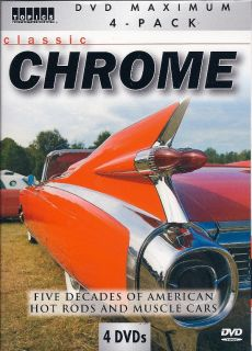 Classic Chrome 1930s 1970s Muscle Cars Hot Rods 4 DVD Box Gift Set