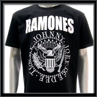 Sz L Ramones T Shirt Vtg American Retro Rock Band Punk Tour Concert