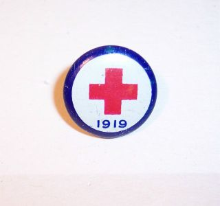 Vintage Red Cross Pin WWI Pin Back American Art Works