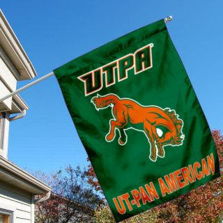 Texas Pan American Broncs UTPA University College House Flag