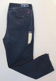 125 Men Polo Ralph Lauren 5 Pockets Pony Golf Navy Chino Icon Pants