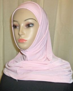 New Solid Plain Colors Hijab Amira 2 Piece Islamic Jilbab Abaya Hejab