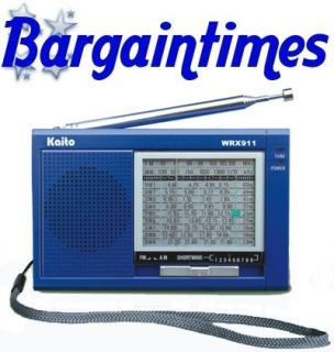 Kaito WRX 911 Am FM Shortwave Compact World Radio Blue