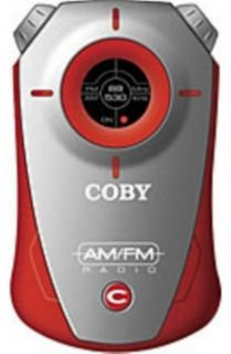 COBY CX71 Red Mini AM/FM Sporty Design Pocket Radio Tuner CX 71 w