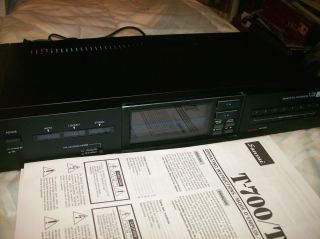 Sansui T 700 Am FM Quartz PLL Synthesizer Tuner with Manual