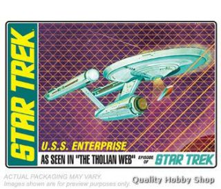 AMT 1 650 Star Trek USS Enterprise Tholian Web Glow in The Dark Model