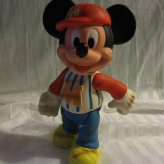 VINTAGE VINYL 12 POSABLE & JOINTED MICKEY MOUSE BASEBALL DOLL~GREAT