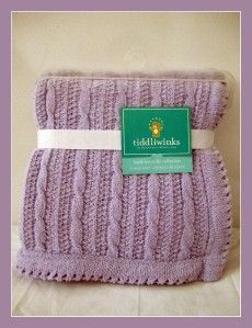 AMY COE, CARTERS AND TIDDLIWINKS CHENILLE BLANKETS YOU CHOOSE