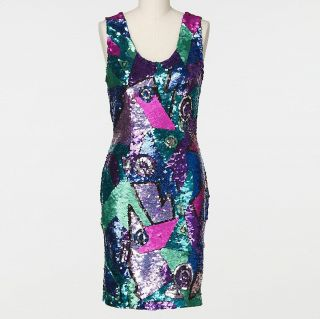Amber Rose Vintage Daval Designs Sequin Tank Dress Size XS
