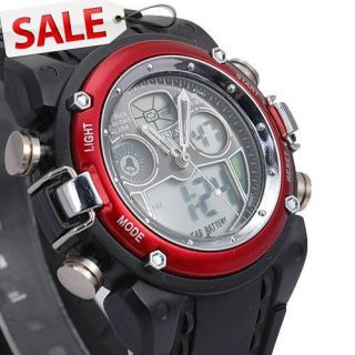 Women Mens Alarm Clock Light Analog Sport Digital Quartz Wrist Watch