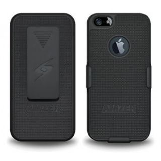 Apple iPhone 5 Amzer Shellster Shell Holster Clip Case w Kickstand New