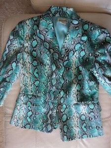 Michael Kors Anaconda Snake Skin Print Animal Print Jacket Suit Blazer