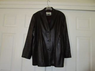 Womens Rocco DAmelio Leather Jacket Designer XL