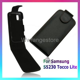 New Flip Leather Pouch Case F Samsung S5230 Tocco Lite
