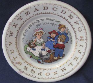 ABC Childrens Plate Hotel Antique Childs Harker Art Pottery Alphabet