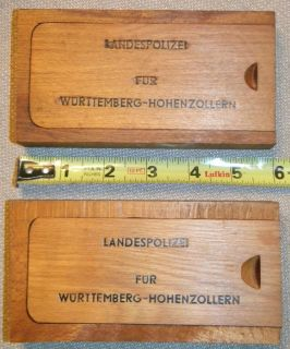Vintage 1940 50s German Police gun pistol wood box cleaning kit