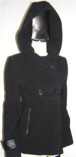 Andrew Marc Black Short Wool Blend Winter Coat Size 6