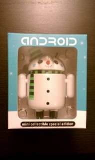 Authentic Android Mini Collectible Snowman Figure Andrew Bell