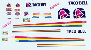 John Andretti Top Fuel Taco Bell NHRA Drag Decals