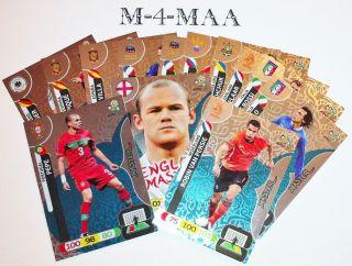 Choose Your Master Card Panini UEFA Euro 2012 Adrenalyn XL Free UK P P