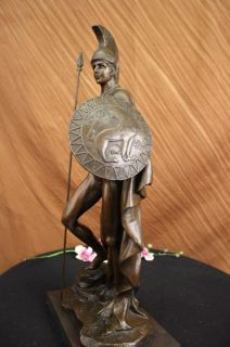 Museum Quality Greek Warrior Bronze Statue Sculpture Art Deco Figural