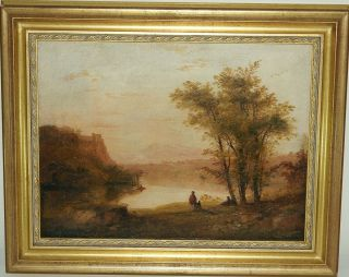 19 Century oil on canvas Andrew W Melrose 1836 1901 Landscape