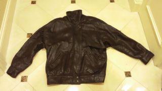 Andrew Marc Mens Womens Leather Jacket Coat  Zip Up Sz