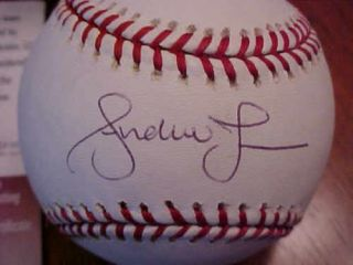 Andruw Jones New York Yankees Autographed Baseball with Certificate
