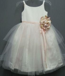 Girls US Angels Flower Girl Dress 101 Pink Size 6