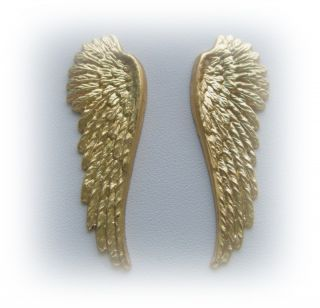 Pair of Angel Wings Charms Findings BC 23