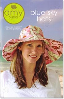 Amy Butler Sewing Pattern Blue Sky Hats Sun Hat & Reversible Skull Cap
