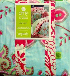Amy Butler Sari Bloom Multi Color Floral Cotton Twin Duvet Cover