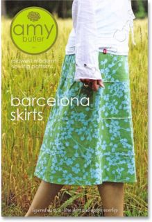 Amy Butler Sewing Pattern Barcelona Skirts A Line & Layered Dress NEW