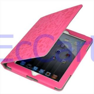 Apple iPad 2 Super Lovely and Cute Smart Cover Pink Leather Case with
