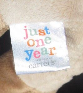 Carter Just One Year Tan Pony Pink Dot Saddle Horse Toy