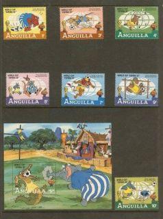 Disney Anguilla 1982 Cup Disney Stamp Stamps New Mint