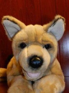 17 Animal Alley German Shepherd Dog Brown Black Plush Stuffed Animal
