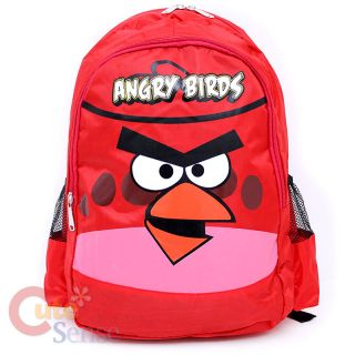 angry birds red bird school backpack bag 17in large