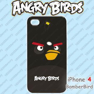 Angry Birds Case for Apple iPhone 4 Red Yellow Bird Green King Pig