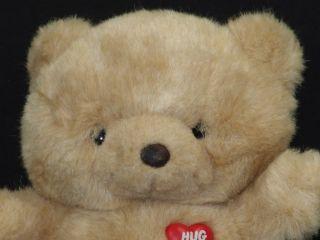 1985 Emotions Hug Me Tan Teddy Bear Plush Stuffed Animal Toy