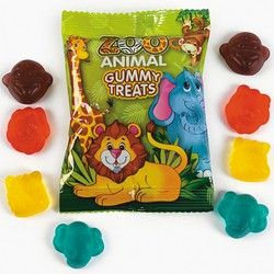 60 Jungle Safari Zoo Animal Gummy Candy Party Favors