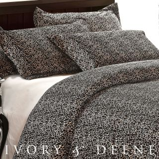 Leopard Fur King Sz DOONA Duvet Quilt Cover Animal Print Bedding Set