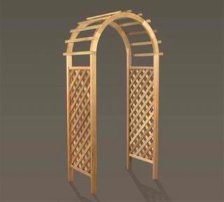 New Quality Deluxe Wooden Western Red Cedar Arbor Garden Arch Patio