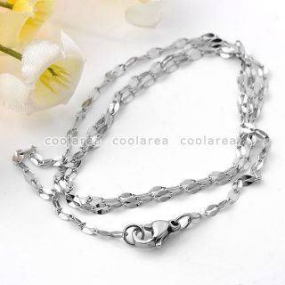 1pc Stainless Steel Anchor Link Chain Necklace 18L Lobster Clasp