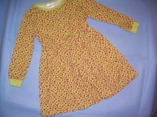 Hanna Andersson Girls Print Play Dress w Stripe Leggings 2pc Set Sz