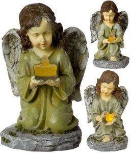 Angel Patio Solar Powered LED Light Statue Ornament Novelty Lamp