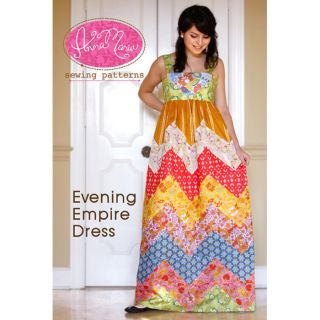 Free SHIP Anna Maria Evening Empire Dress Pattern